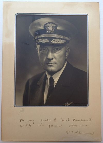 1940. unbound. 10 x 8-inch bust-portrait photo showing a serious-looking Byrd in Uniform, no place, ...