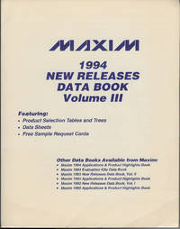 Maxim 1994 New Releases Data Book Volume III
