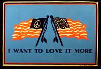 """""""I Want to Love it More"""" Blacklight Velvet Poster, 1970"""