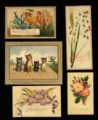 1880. PRANG, Louis. PRANG, Louis, et al. SELECTION OF AMERICAN PRANG VICTORIAN CHRISTMAS CARDS AND C...