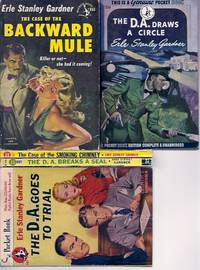 """ERLE STANLEY GARDNER"" 5 1ST PRINTINGS:  The D.A Draws a Circle / The D.A. Goes to Trial / The Case of the Smoking Chimney / The Case of the Backward Mule / The D.A. Breaks a Seal"