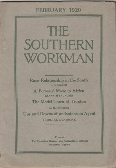 Hampton, VA: Hampton Normal and Agricultural Institute. 1918-1919. Periodical. Wraps, a run of 24 co...
