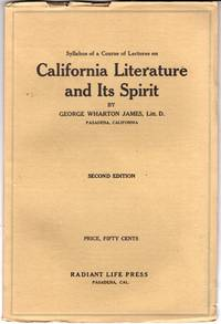 Syllabus of a Course of Lectures on California Literature and It's Spirit