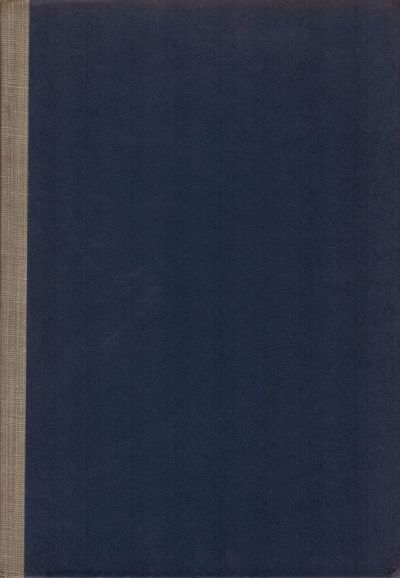 Pittsburgh: Carnegie Institute of Technology, 1941. First edition. Hardcover. Orig. boards and navy ...