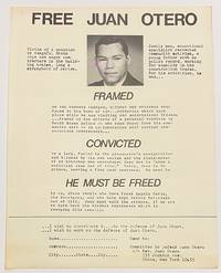 image of Free Juan Otero [handbill]