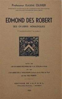 Edmond des Robert, ses ex-libris héraldiques