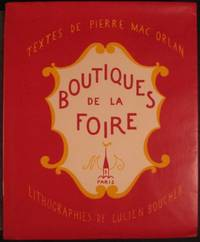 BOUTIQUES DE LA FOIRE by Mac Orlan - Paperback - First edition. No. 295 of 500 copies - 1926 - from First Folio and Biblio.com