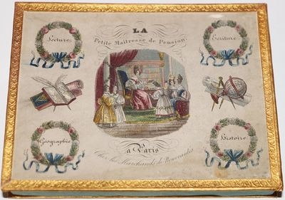 Paris: Chez les Marchandes de Nouveautés. Box. . Very Good. Scarce, with only known copy at the Mor...
