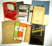 A collection of 15 early and rare television manuals European
