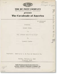 image of The Cavalcade of America: Mr. Lincoln Goes to the Play (Original script for the 1948 radio broadcast)