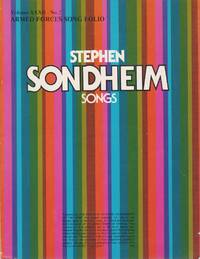 Stephen Sonheim Songs (Armed Forces Song Folio Volume XXXII- No. 2)