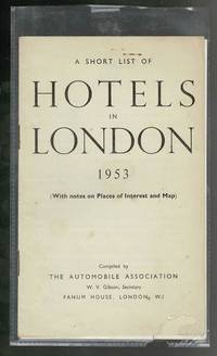 A Short List of Hotels in London 1953