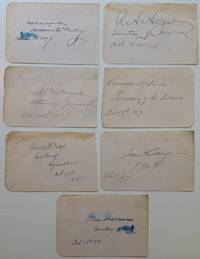 Album page signed as President with all his cabinet members