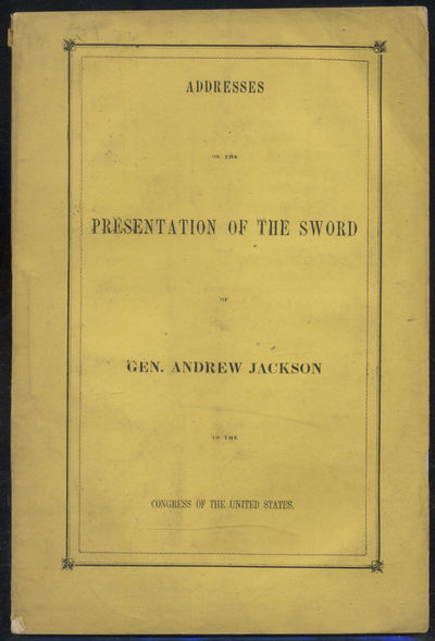Washington: A.O.P. Nicholson, 1855. Softcover. Near Fine. First edition. Printed yellow wrappers. 40...