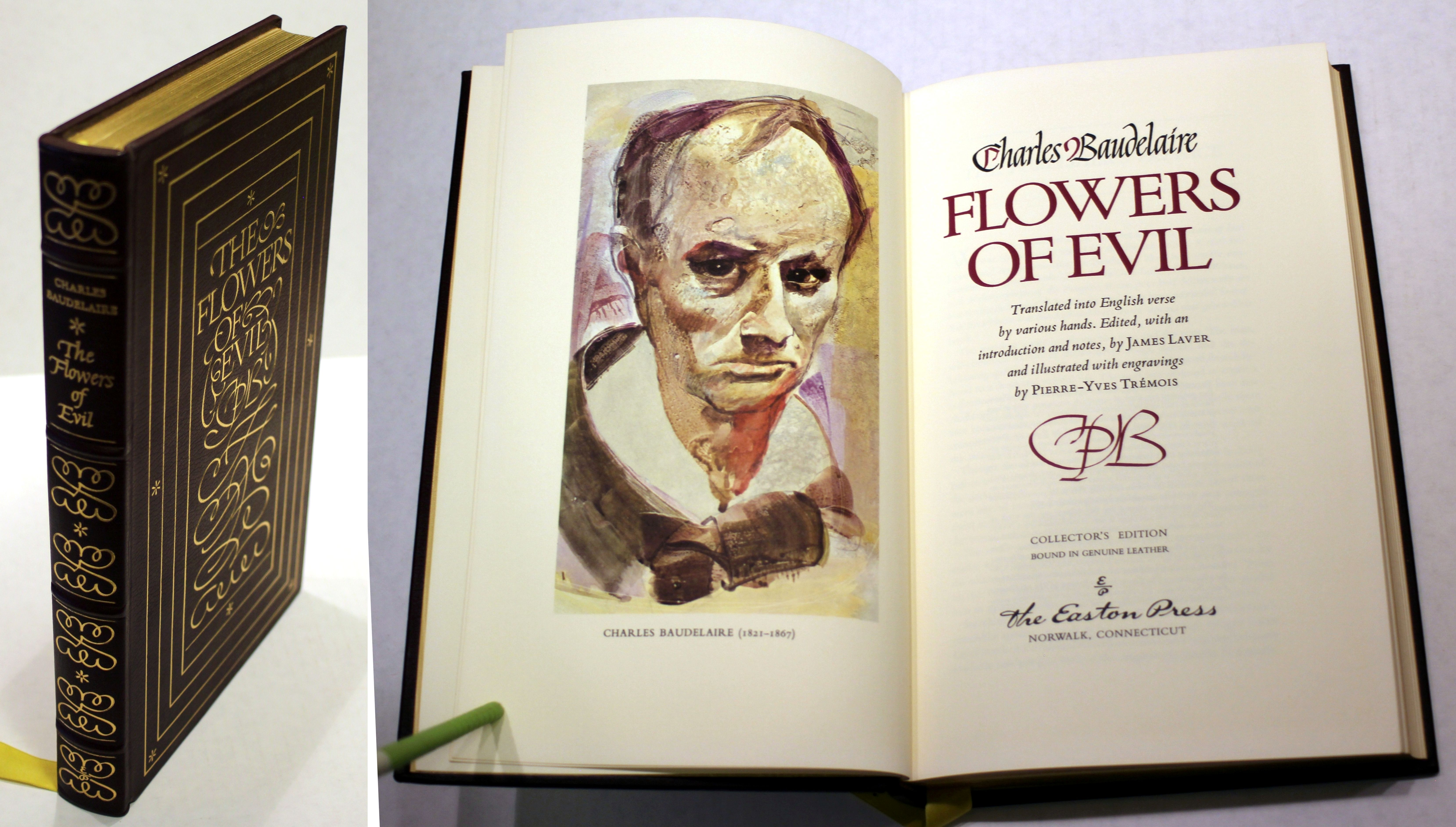 Flowers of Evil by Charles Baudelaire Luxury Collectors Edition in Genuine
