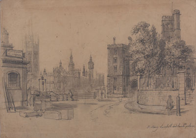 View of St. Mary Lambeth and Lambeth...