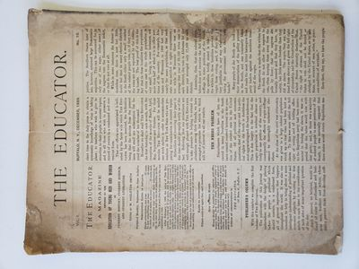 Newspaper reports on suppression of Black votes in Southern states. The Educator. Vol. 1, No. 10. B...