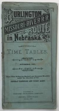 Burlington and Missouri River R.R. Route in Nebraska [cover title]