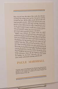 image of Excerpted passage from Brown girl,l Brownstones; broadside