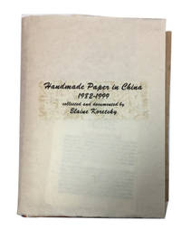 Handmade Paper in China 1982-1999. [Cover title]
