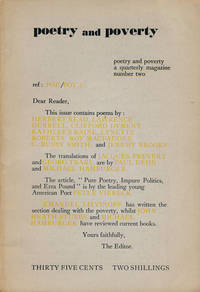 Poetry and Poverty: Number 2 by Durrell, Lawrence; Read, Herbert; Raine, Kathleen; Brooks, Jeremy; Etc from Good Books In The Woods - Used Book - Paperback - First Edition