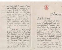 image of Letter from F. S. Malan to journalist Eric Tucker, dated 7th March, 1936