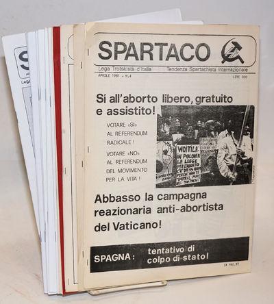Milan: Lega Trotskista d'Italia, 2011. Twelve issues of the Spartacist journal, various formats, eve...