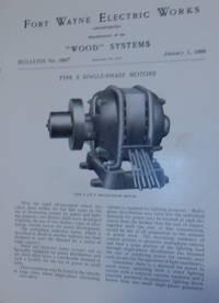 Wood Systems.  Bulletin No.1092. Type S Single-Phase Motors January 1, 1908