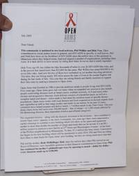 Open Arms fundraising letter