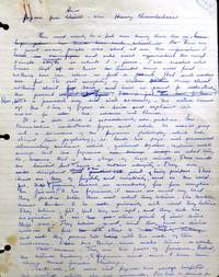 AUTOGRAPH MANUSCRIPT Book Review containing stereotypical insulting remarks on the Japanese people