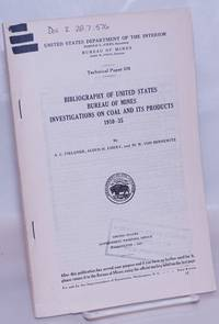 image of Bibliography of United States Bureau of Mines Investigations on Coal and its Products, 1910-35