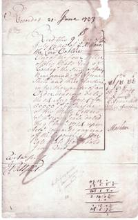 image of Fine receipt signed 'Masham' to Thomas Onslow, (Samuel, 1679-1758, Cofferer of the Household to Queen Anne, from 1712 1st Baron)