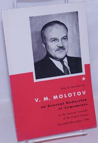 image of Text of Speeches by V.M. Molotov on General Reduction of Armaments at the General Assembly of the United Nations, November-December 1946