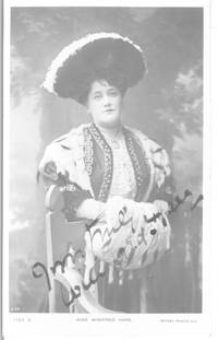 image of Postcard Photo by Rotary signed and inscribed (Winifred, b. 1875, Actress and Singer)
