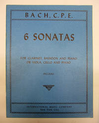 image of 6 Sonatas for Clarinet, Bassoon and Piano or Viola, Cello and Piano (Piccioli).