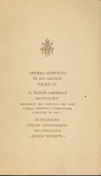 Lettera apostolica di sua Santità Paolo VI al signor cardinale Maurice Roy