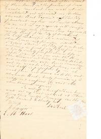 Power of attorney by Moses Hart to Alexander Hart.  Autograph document, signed.