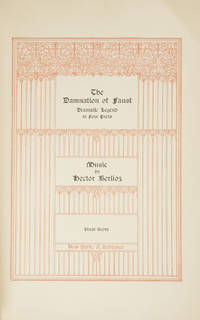 The Damnation of Faust Dramatic Legend in Four Parts ... Vocal Score. [Piano-vocal score]