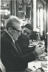 image of Original photograph of Ezra Pound and Olivier Todd at the Brasserie Lipp, circa 1965