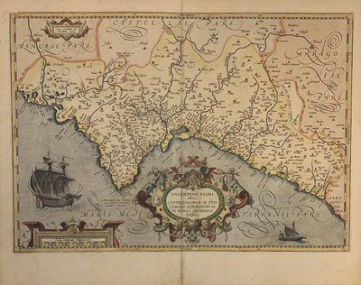 Antwerp: Abraham Ortelius, 1601. unbound. Map. Engraving with beautiful original hand color. Image m...