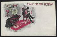 VINTAGE UNDIVIDED SHAKESPEARE QUOTE COMIC POSTCARD FRAILTY THY NAME IS  WOMAN