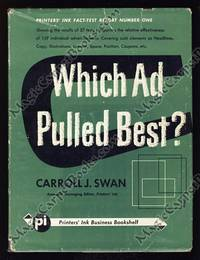 Which Ad Pulled Best? Tests, Results, Conclusions, Sales, Inquiries, Readership