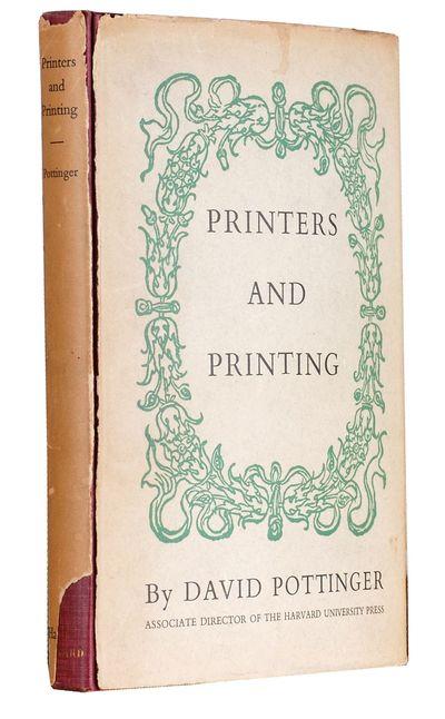 Cambridge: Harvard Univ. Press, 1941. cloth, dust jacket. 8vo. cloth, dust jacket. xii, 143 pages. F...