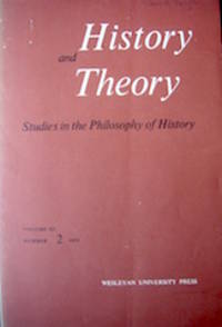 image of History and Theory. Studies in the Philosophy of History. Volume XI Number 2, 1972.