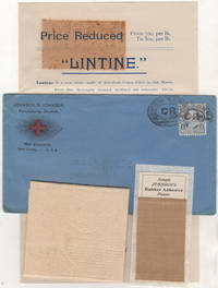 Johnson & Johnson advertising packet including samples of Lintine and Johnson's Rubber Adhesive Plaster