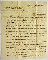 AUTOGRAPH LETTER SIGNED TO COL. CHARLES J. LOVE, FROM JACKSON TN, 10 FEBRUARY 1836, SEEKING TO COLLECT A DEBT