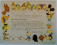 Walt Disney War Bond Certificate