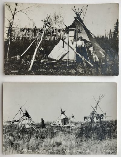 [Lake of the Woods, 1912. Very good.. Two real photo postcards. Minor wear and soiling; one with pen...