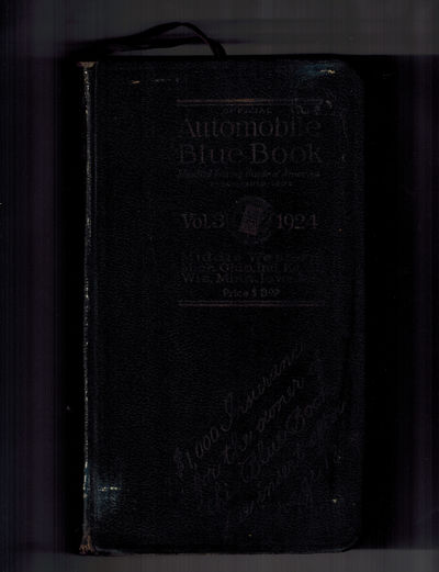 Chicago: Automobile Blue Books, Inc., 1924. With the Maxfield Parrish - illustrated map holder attac...