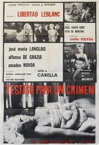 image of Violated Love [Testigo para un crimen] (Original poster for the 1963 film)